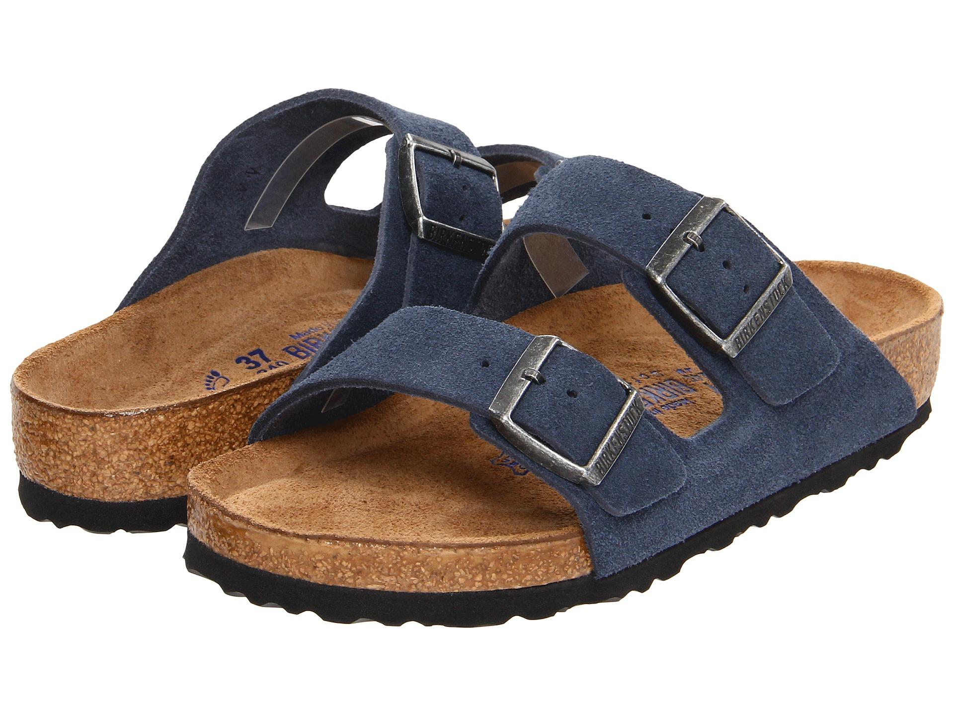 Birkenstock Arizona Soft Footbed Suede In Blue Lyst