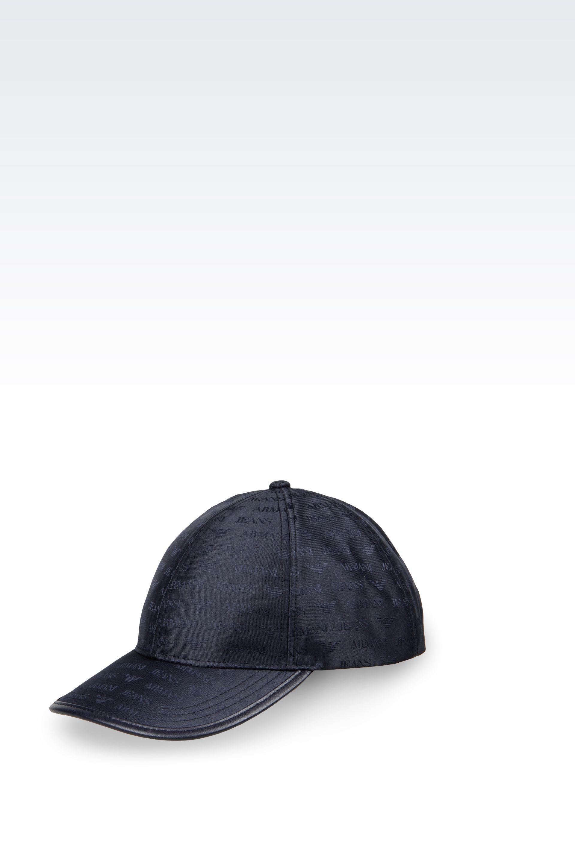 959fcf37ee86d Lyst - Armani Jeans Baseball Cap In Logo Patterned Jacquard in Blue ...