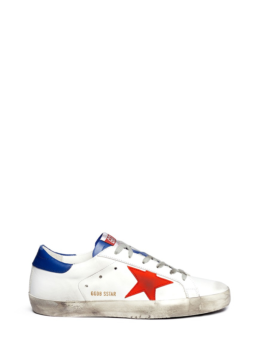 Golden goose deluxe brand 'super Star' Worn Effect Leather ...