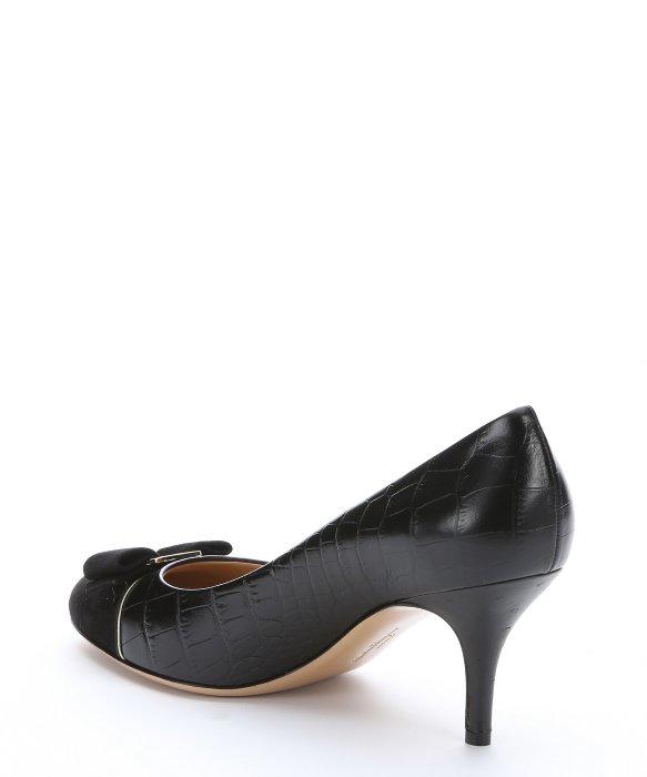 Vintage Ferragamo Women S Shoes Embossed Leather