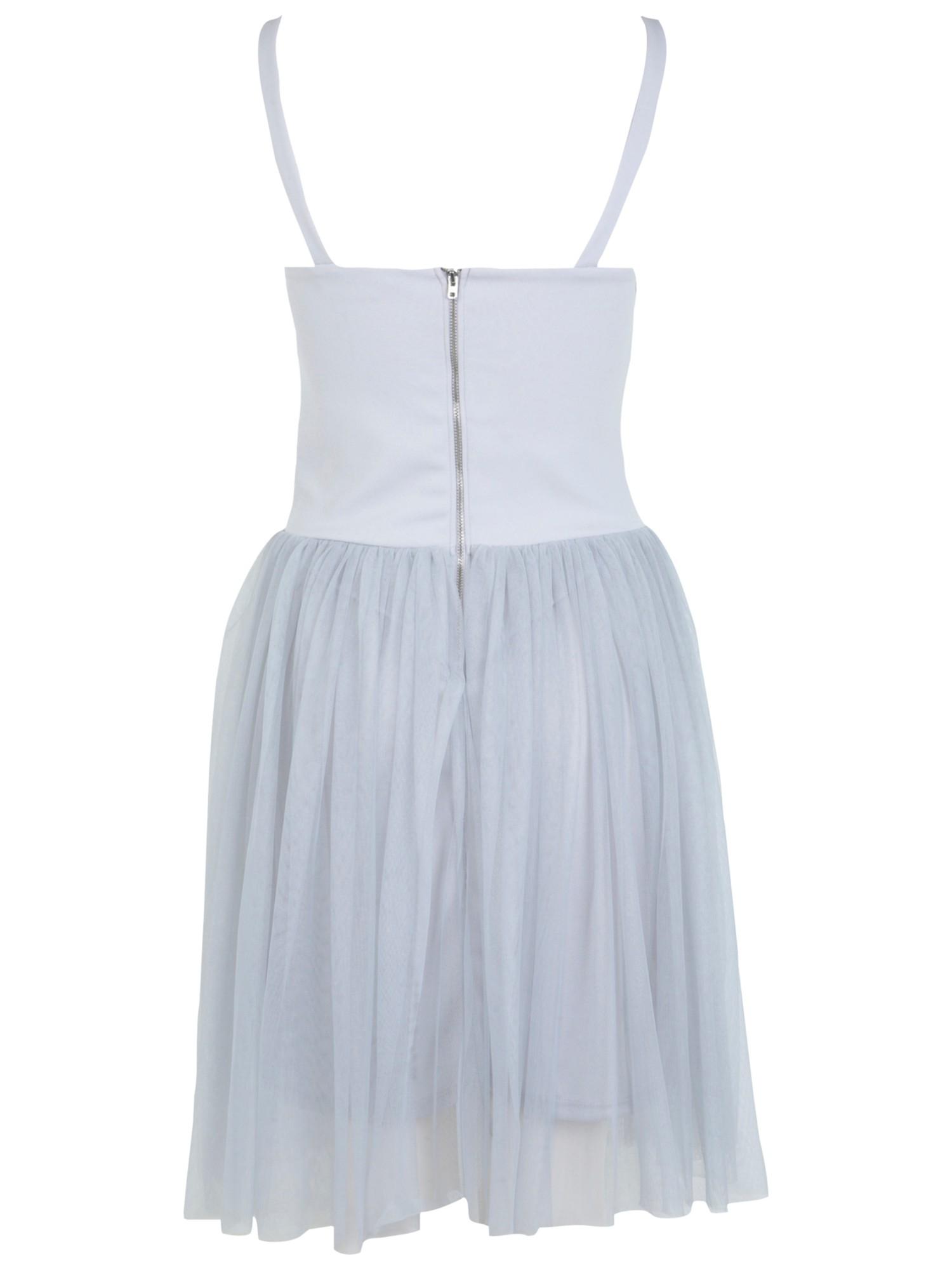 Miss Selfridge Embellished Body Tutu Dress in Blue - Lyst