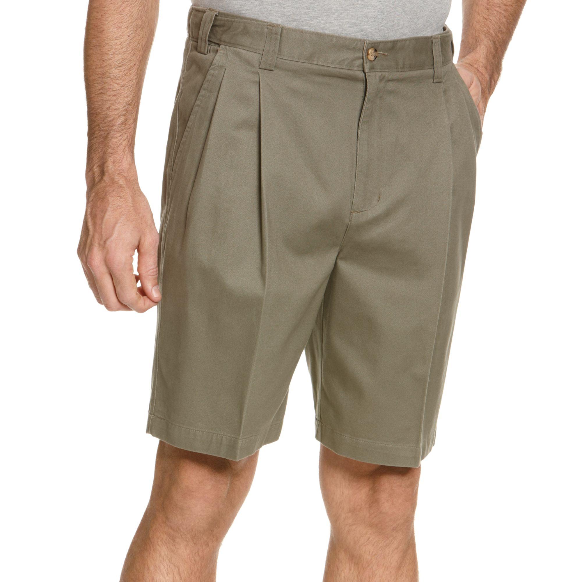 Lyst Geoffrey Beene Extender Waist Double Pleat Shorts
