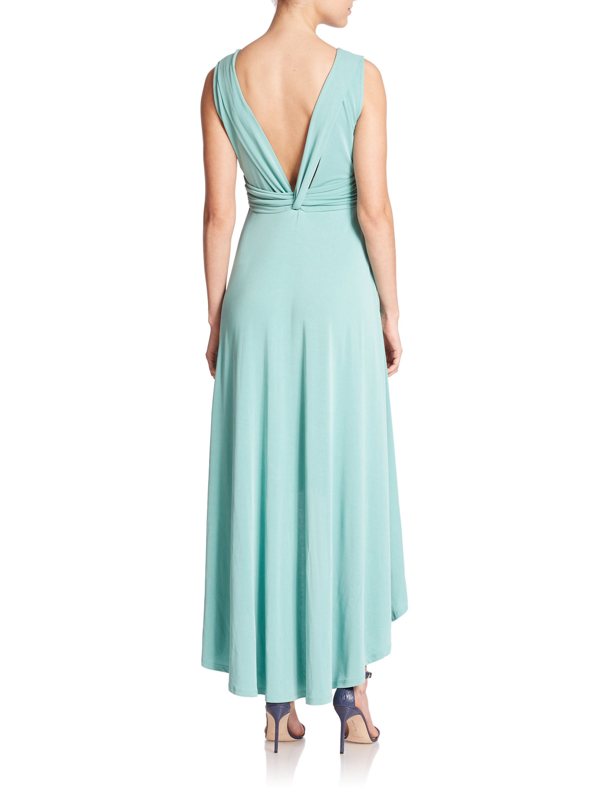 Lyst - Bcbgmaxazria Fara Hi-lo Maxi Dress in Blue