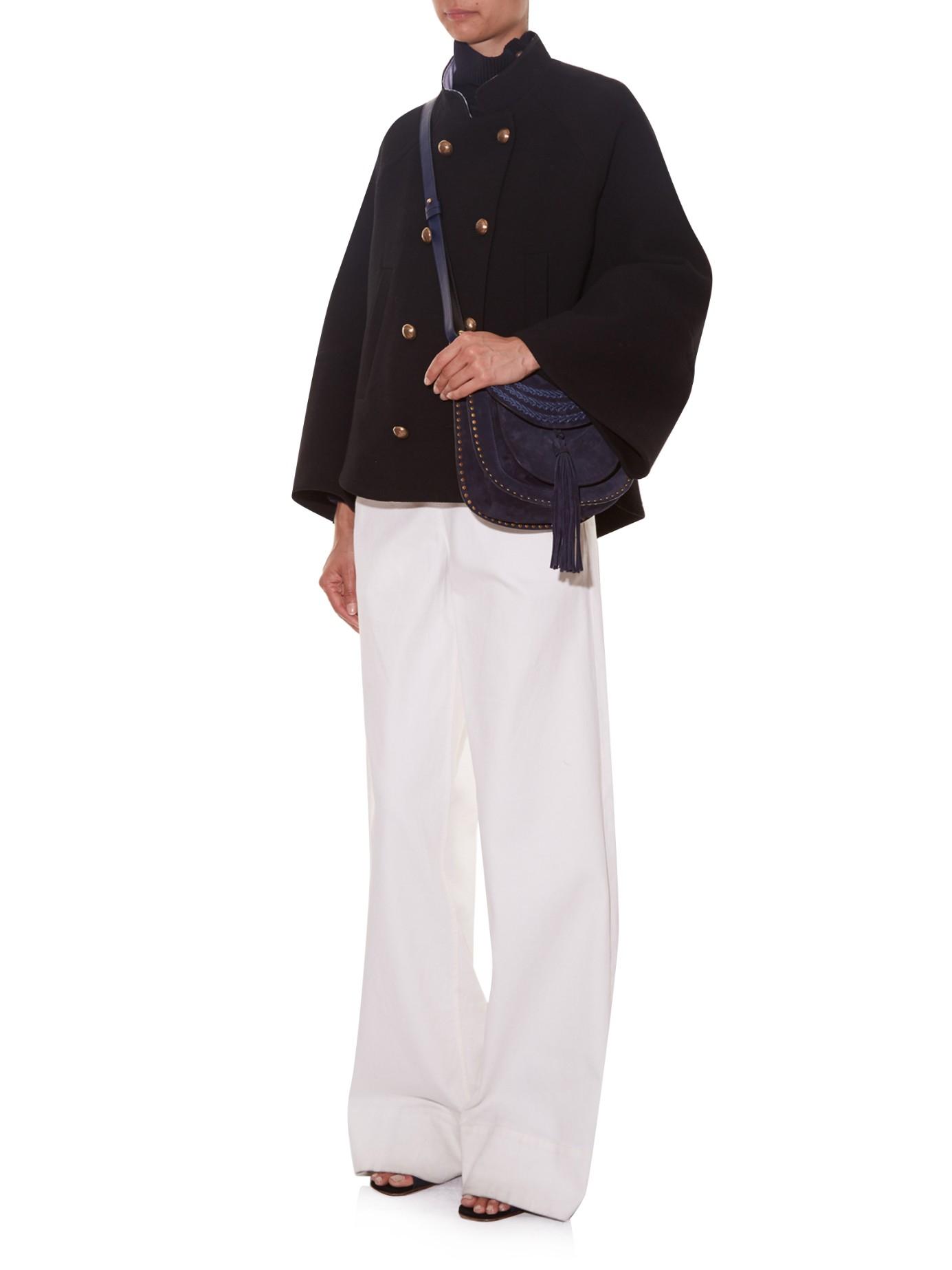 chloe look alike handbags - Chlo�� Hudson Small Suede Cross-body Bag in Blue (NAVY) | Lyst