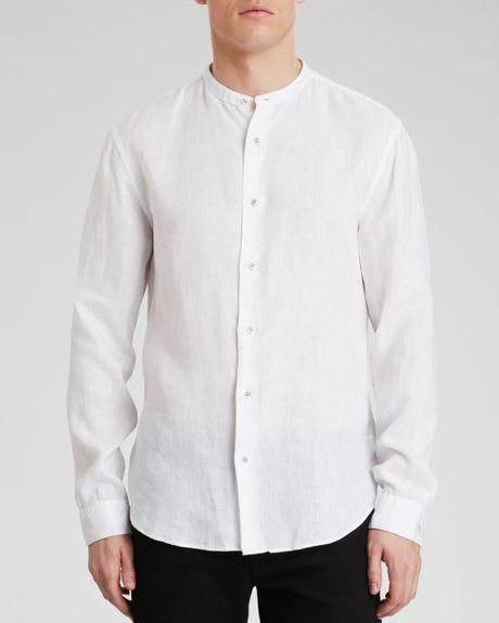 John Varvatos Star Usa Banded Collar Button Down Shirt