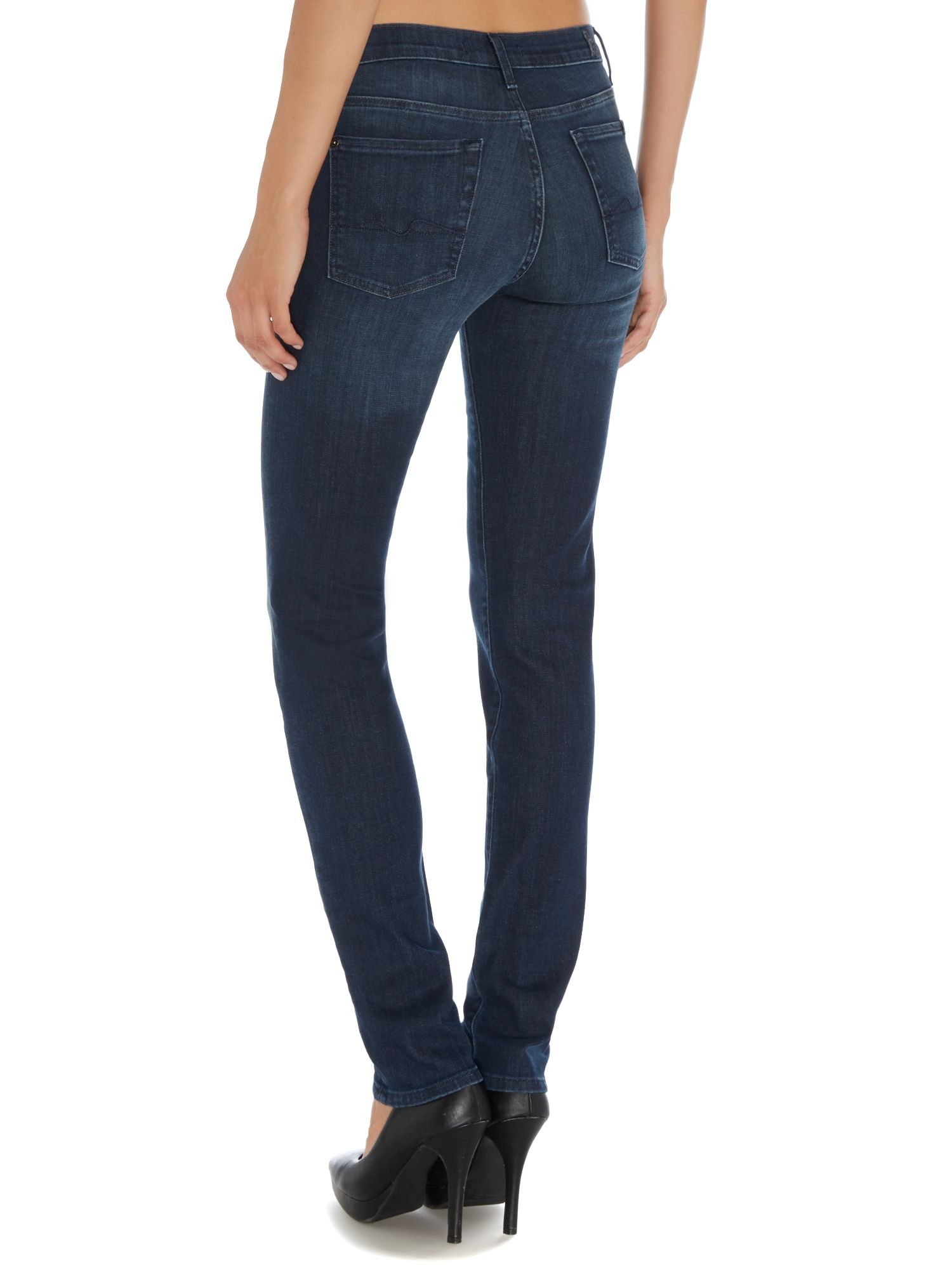 7 for all mankind Rozie Highwaist Slim Illusion Coronado Dark Jean ...