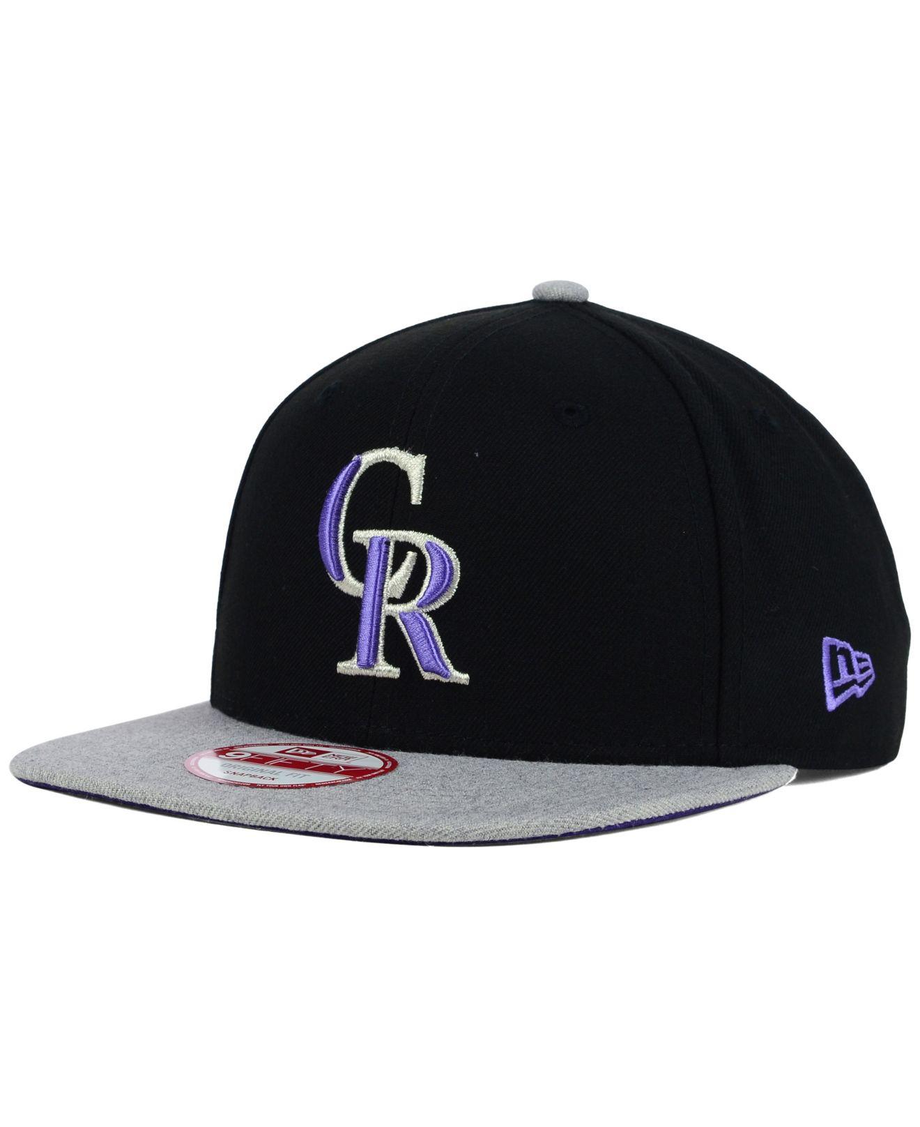 sale retailer a282e 91599 ... wholesale lyst ktz colorado rockies logo refresh 9fifty snapback cap in  9ee1c 33c1b