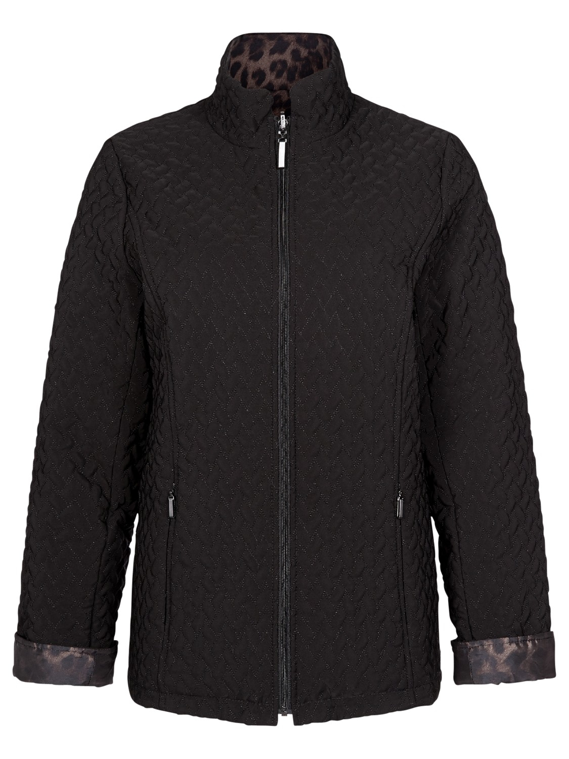 Jacques Vert Reversible Quilted Jacket In Black Lyst