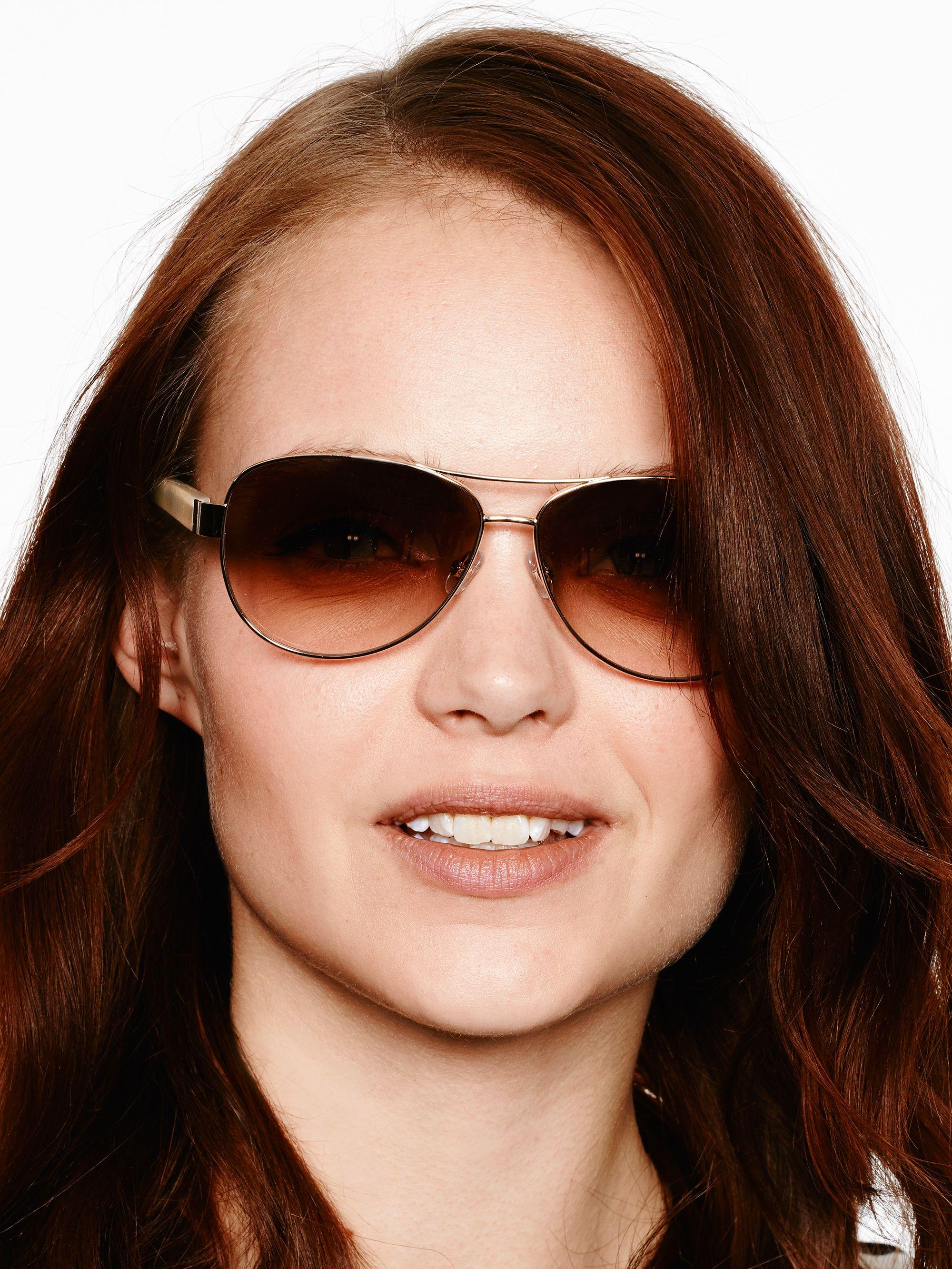 00deb0c2c1 Lyst - Kate Spade Dalia Sunglasses in Metallic