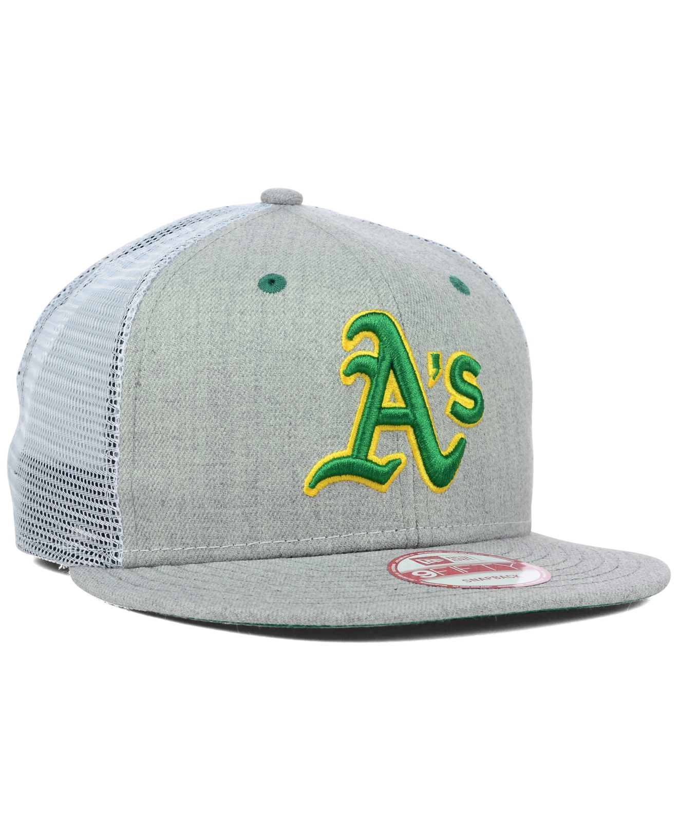 Lyst - KTZ Oakland Athletics Heather Trucker 9fifty Snapback Cap in ... 398cbd738ca