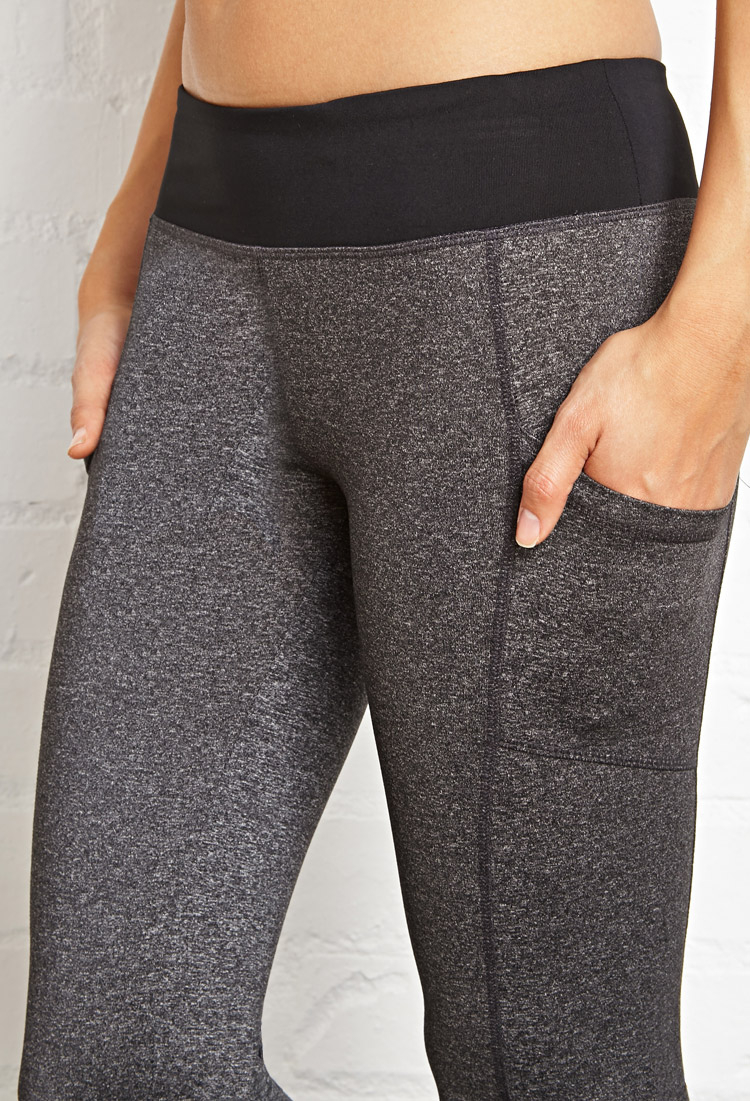 Forever 21 Side Pocket Yoga Leggings in Black | Lyst