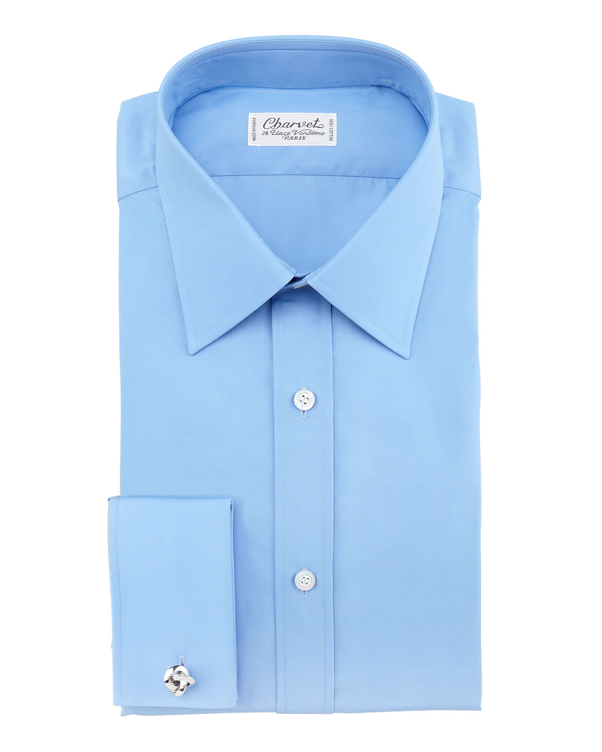 Charvet Poplin French Cuff Shirt In Blue For Men Lyst