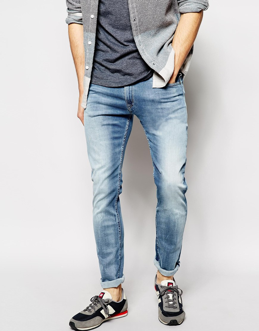 Lyst - Replay Jeans Hyperflex Jondrill Skinny Comfort ...