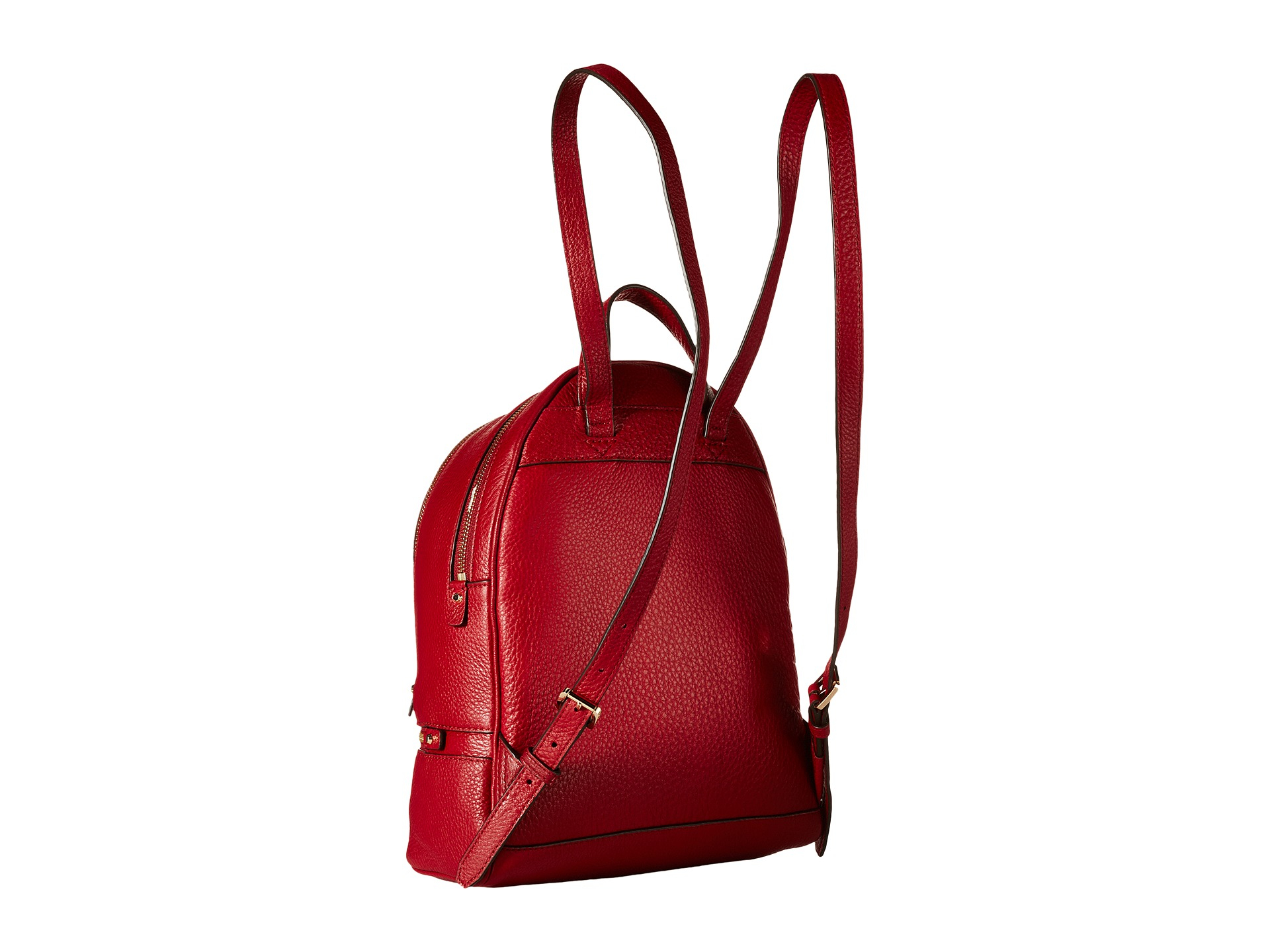 ad5f72806a7e ... low cost lyst michael michael kors rhea zip small backpack in red 44c73  2595a