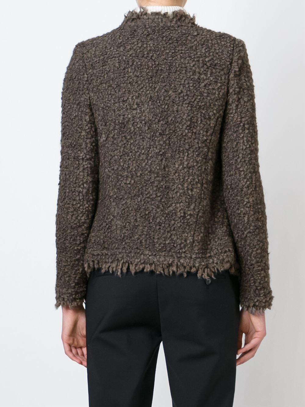 Iro Loop Knit Cardigan in Brown Lyst