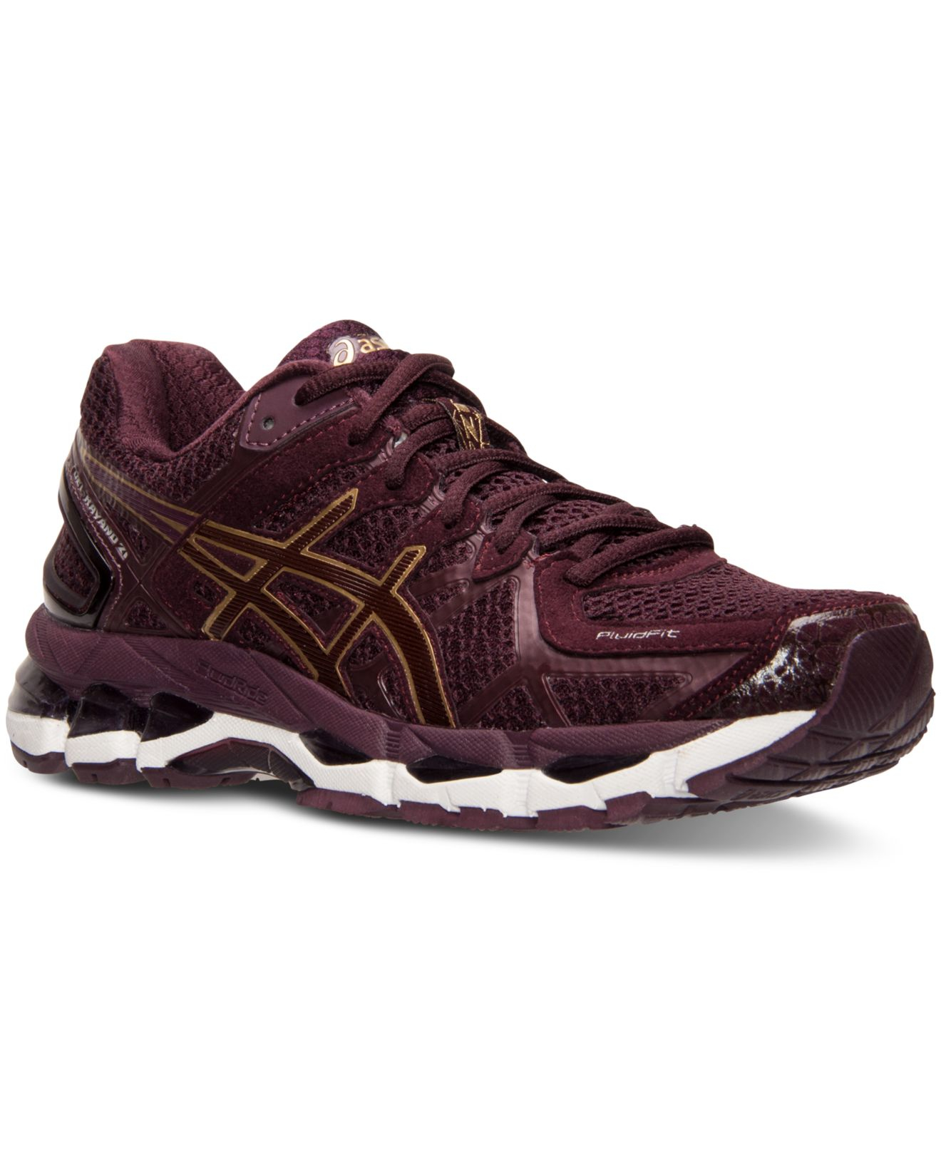asics women 39 s gel kayano 21 running sneakers from finish line in purple lyst. Black Bedroom Furniture Sets. Home Design Ideas