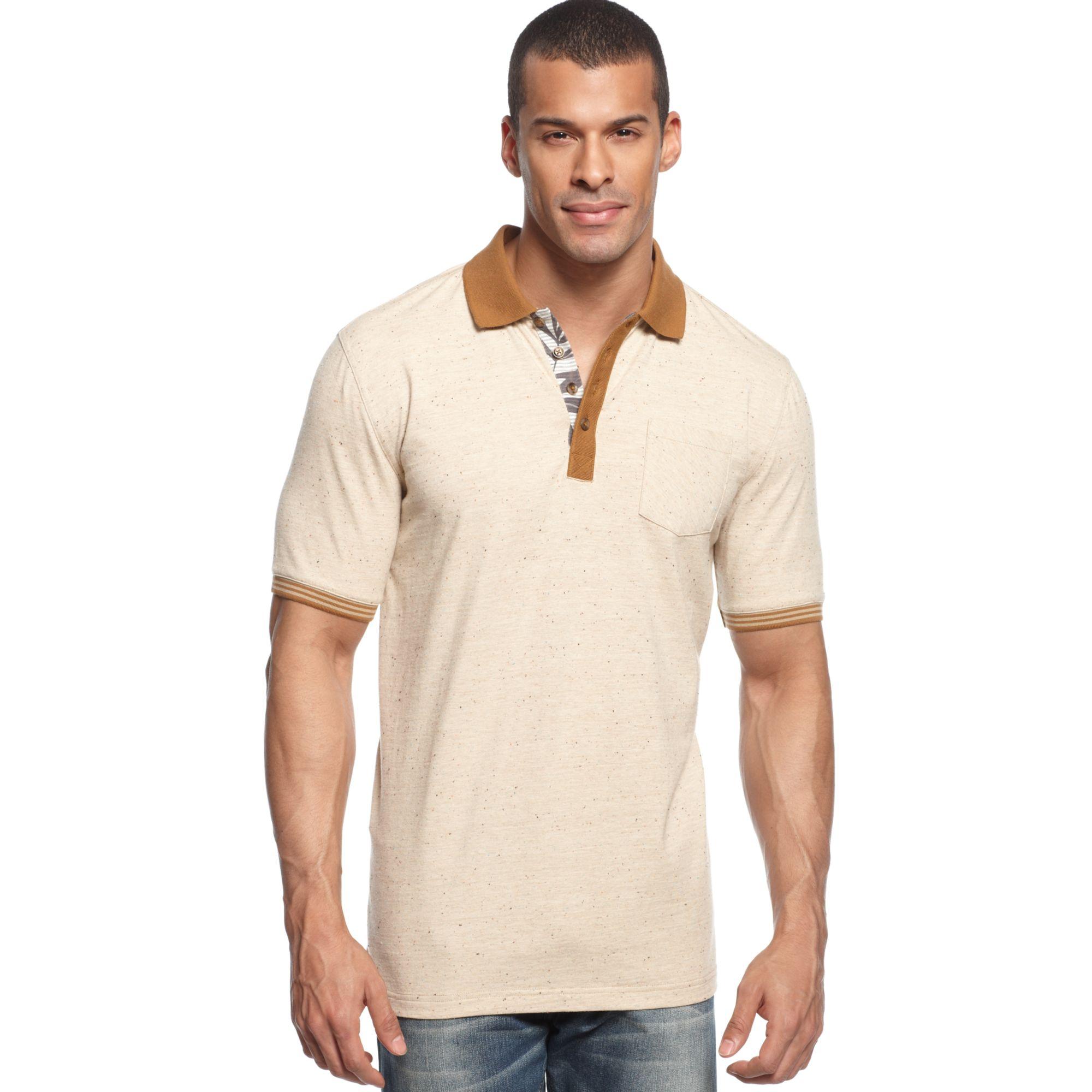 Lyst sean john big tall the time polo shirt in natural for Sean john t shirts for mens