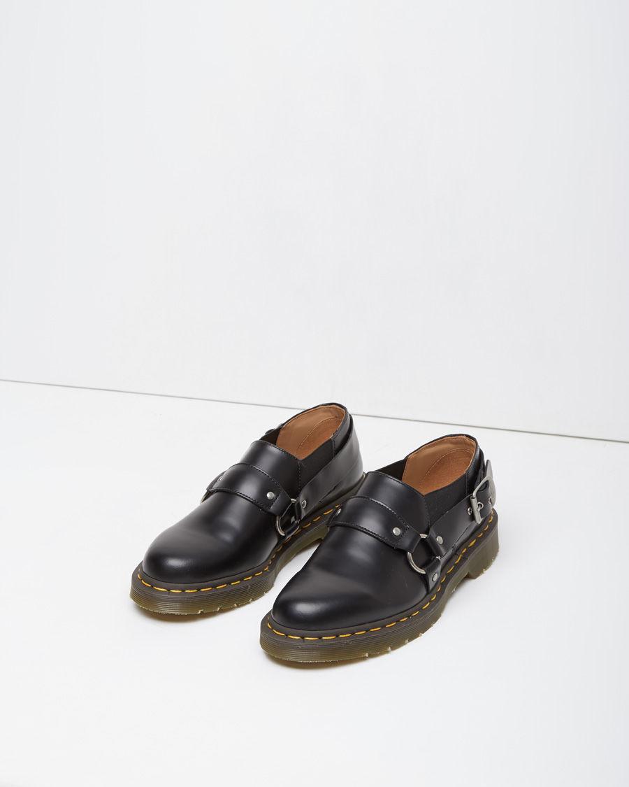 Comme des garçons Dr Martens Harness Shoe in Black