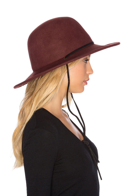 90df4fb5a2ab7 ... hot lyst brixton tiller hat in brown 7371d d897d