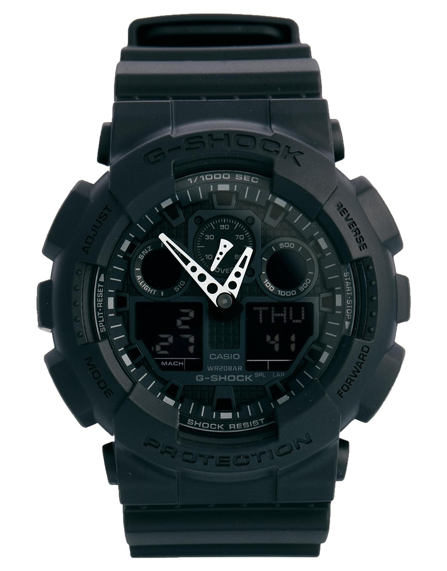 G-shock Gshock Analogue Black Watch Ga1001a1er in Black ...