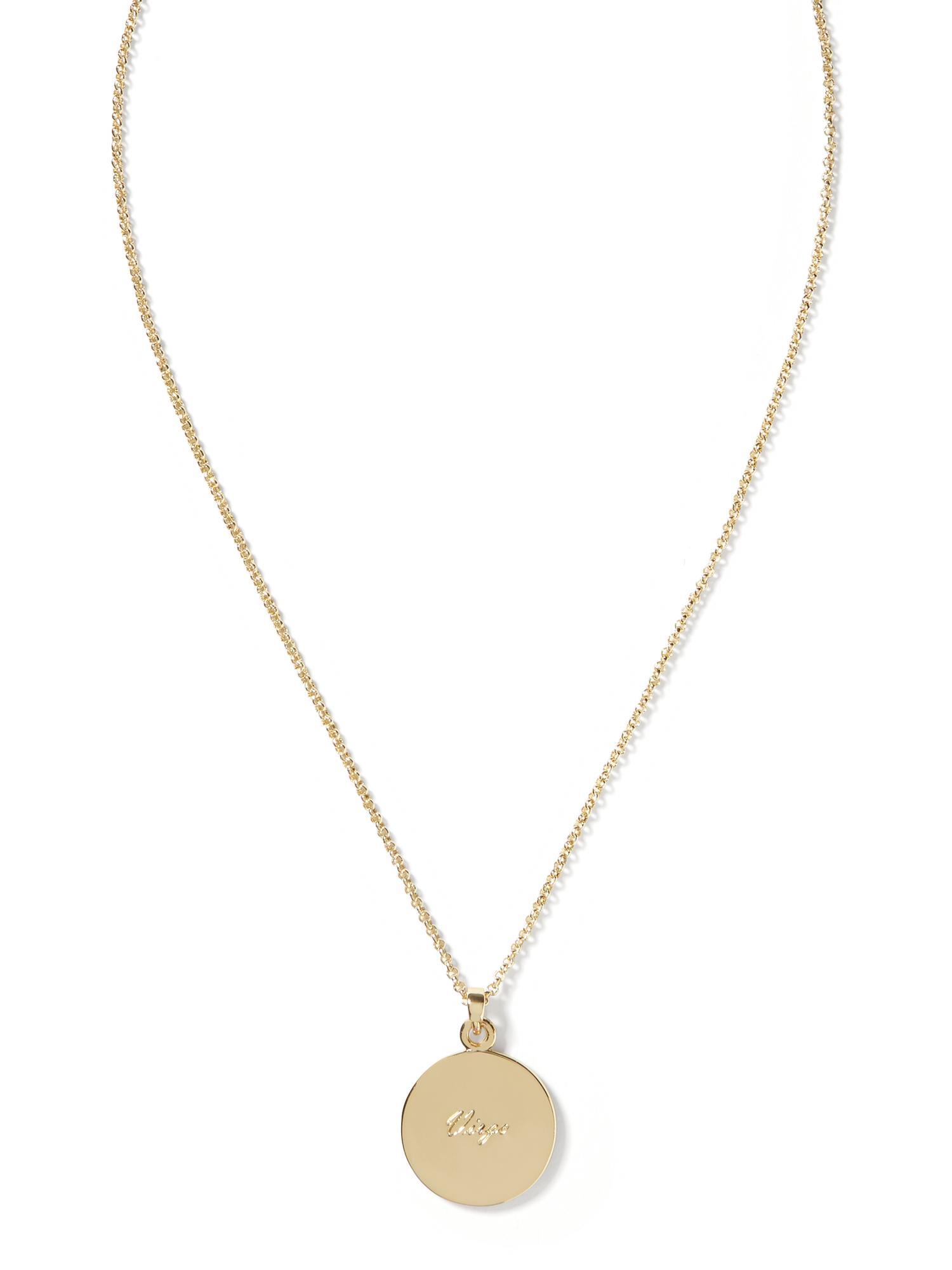 banana republic virgo pendant necklace in gold lyst