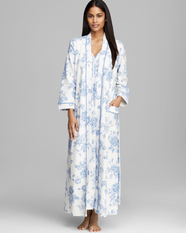 Carole Hochman Timeless Floral Long Robe in Blue - Lyst