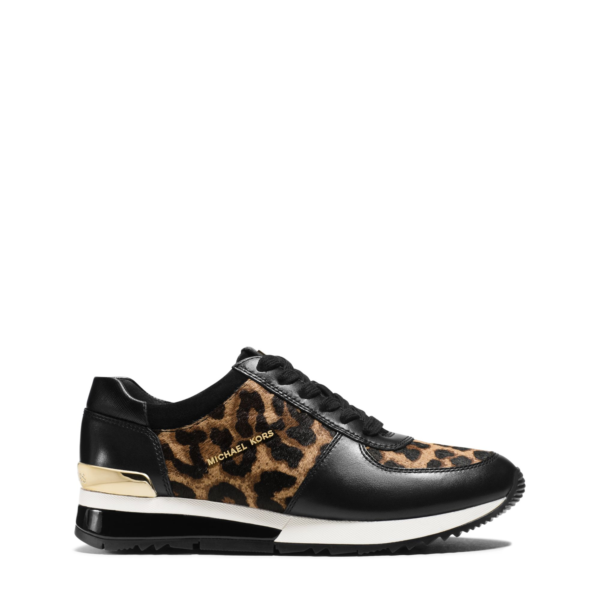 Lyst - Michael Kors Allie Leopard Calf Hair And Leather ...