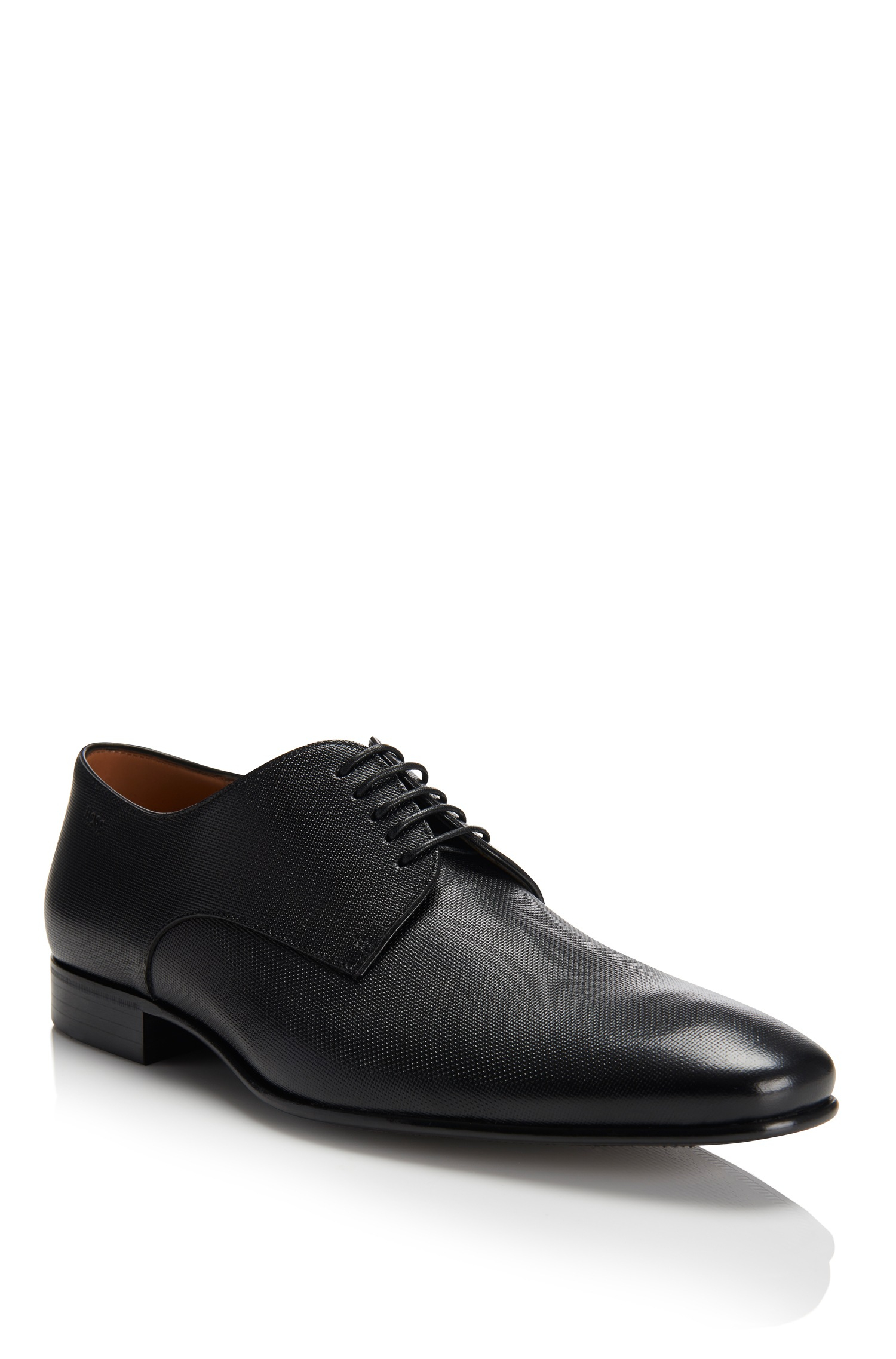 prindo italian leather dress shoes in black for