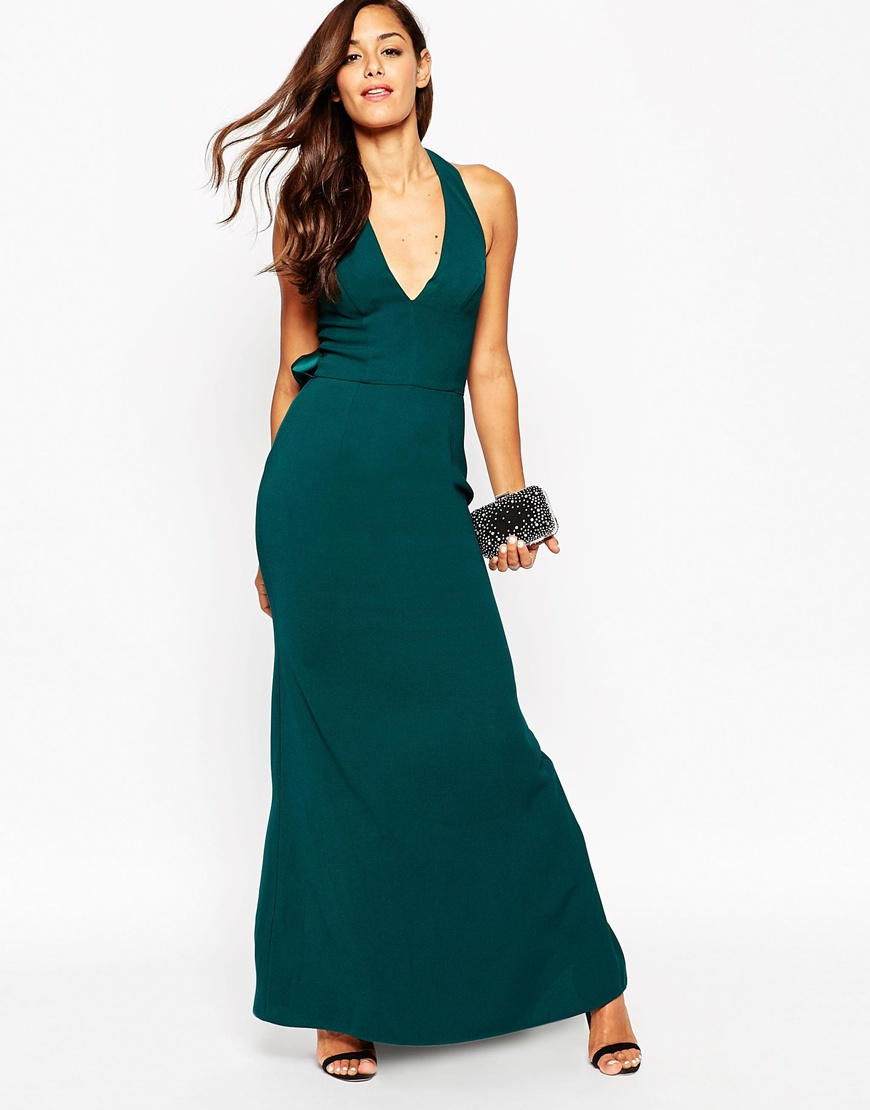 Asos Red Carpet Soft Off Shoulder Fishtail Maxi Dress In Red Lyst - Gallery