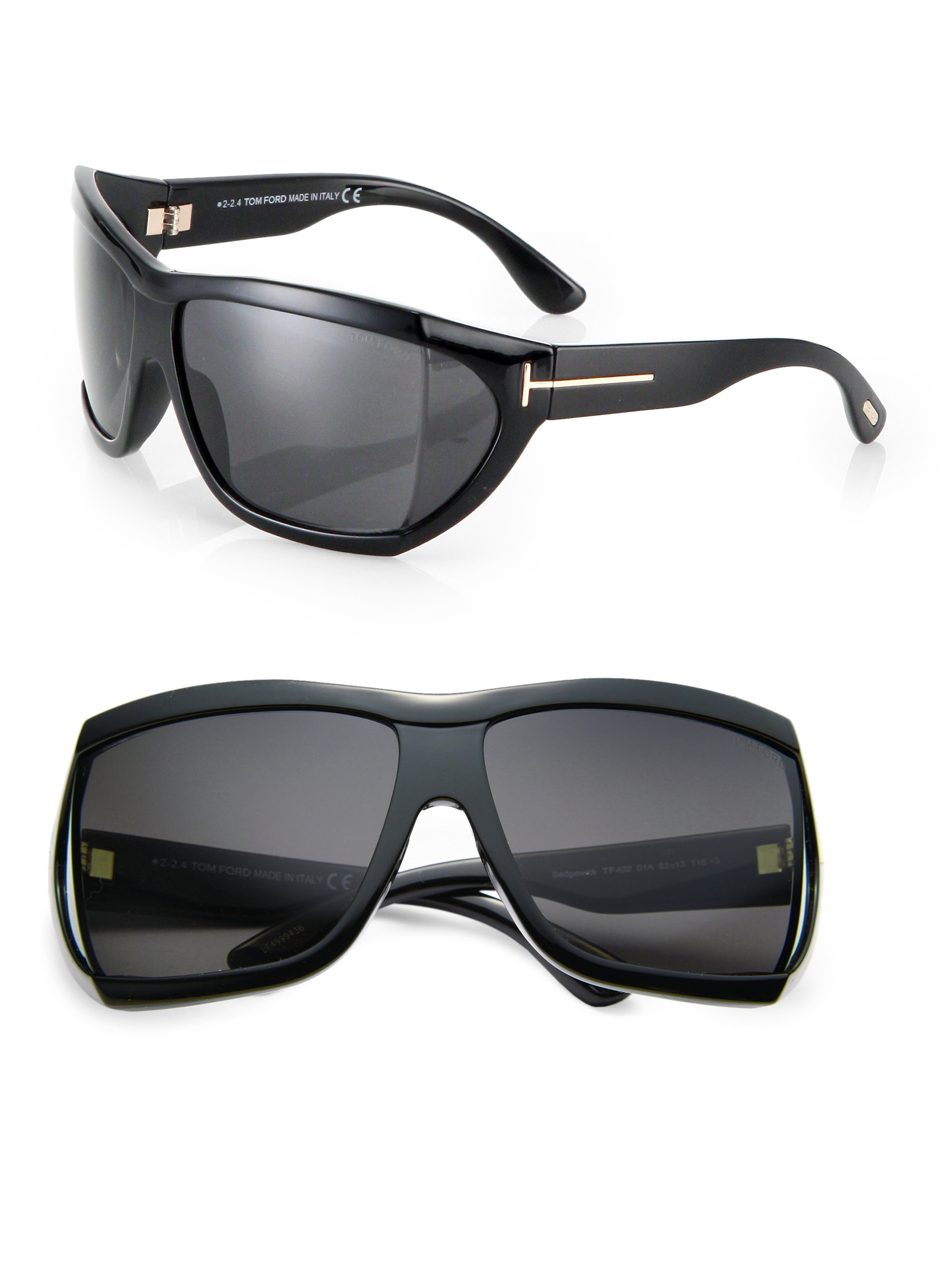 tom ford sedgwick 62mm squared mask sunglasses in black for men lyst. Cars Review. Best American Auto & Cars Review