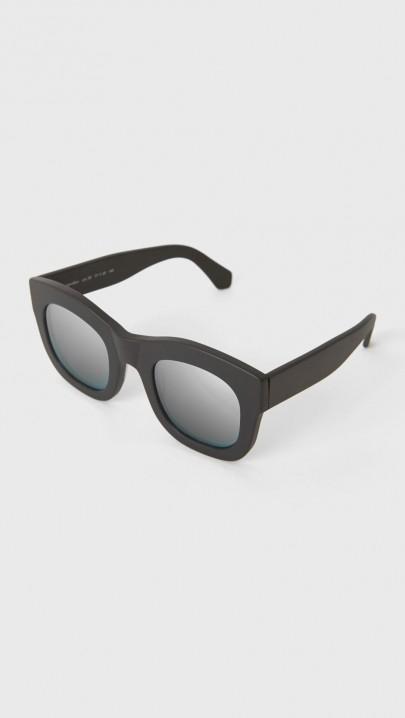 Lyst Illesteva Mirrored Hamilton Sunglasses In Black