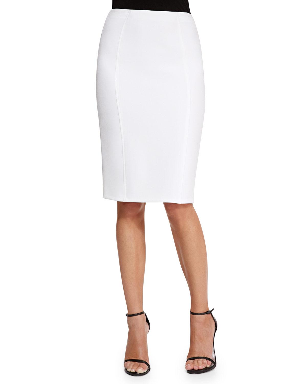 danielle pencil skirt in white lyst