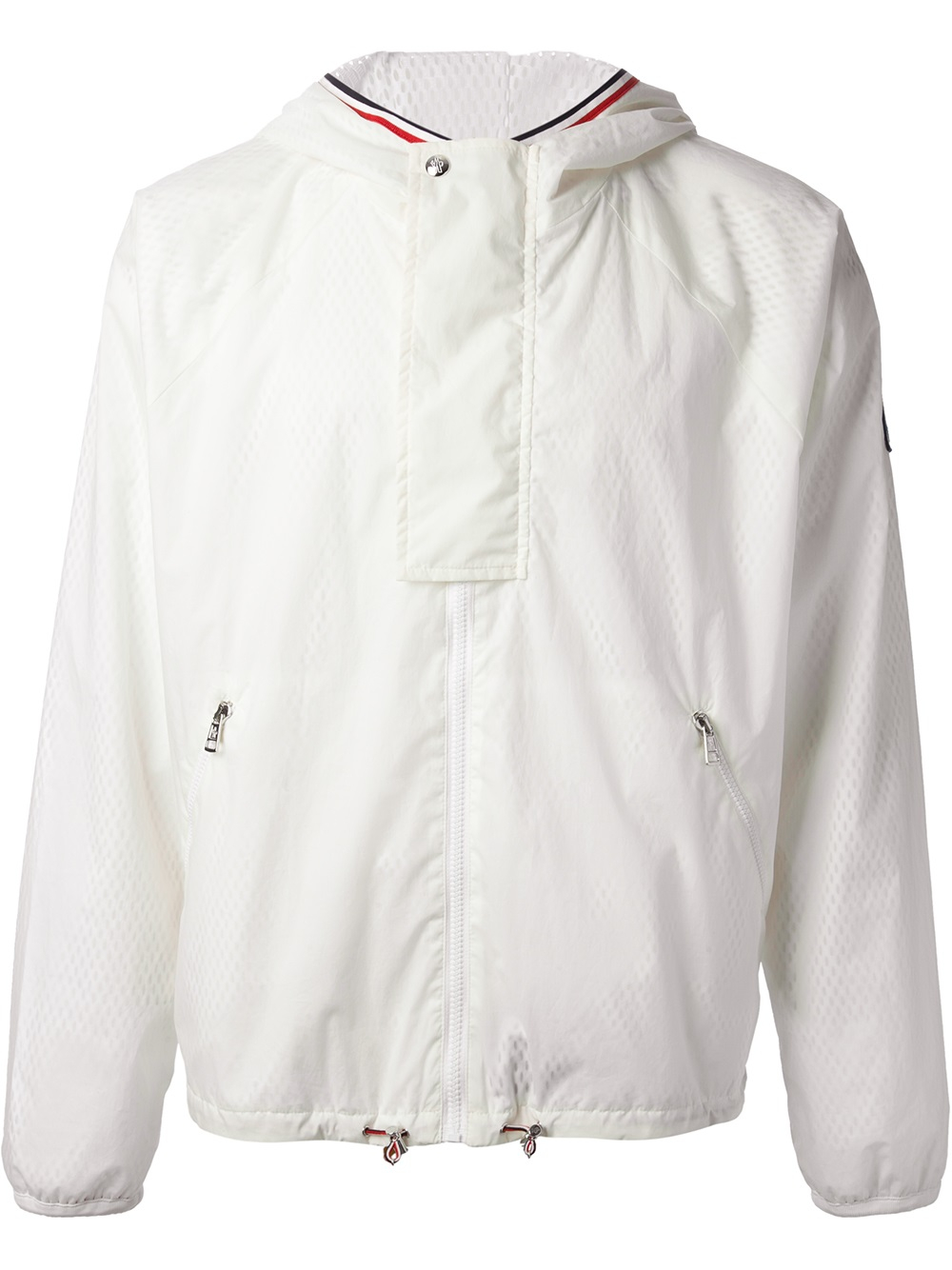 moncler white windbreaker