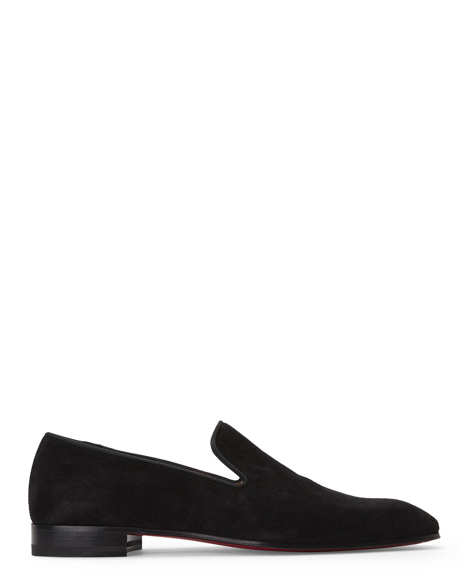 Christian louboutin Black Dandelion Smoking Loafers in Black for ...
