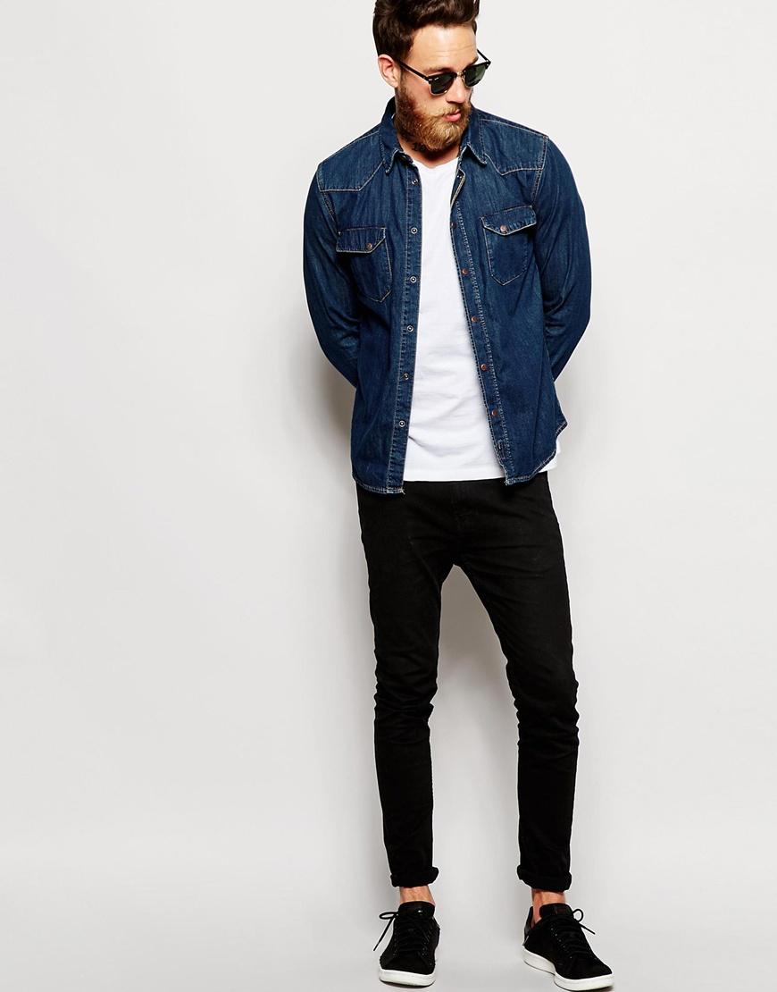 da8c18497a6 Lyst - Nudie Jeans Nudie Denim Shirt Jonis Slim Fit Western True ...