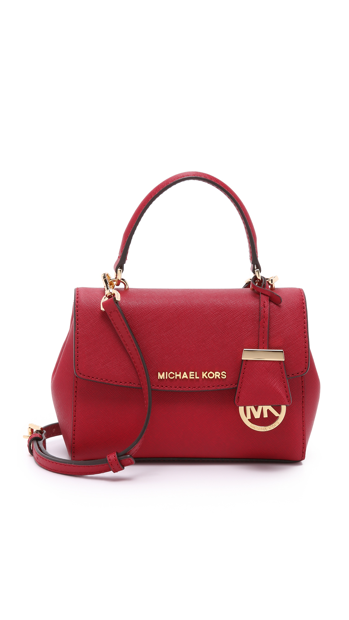 ddc00a3ec9cd ... purchase michael michael kors ava extra small cross body bag cherry in  red 69396 c0b6a