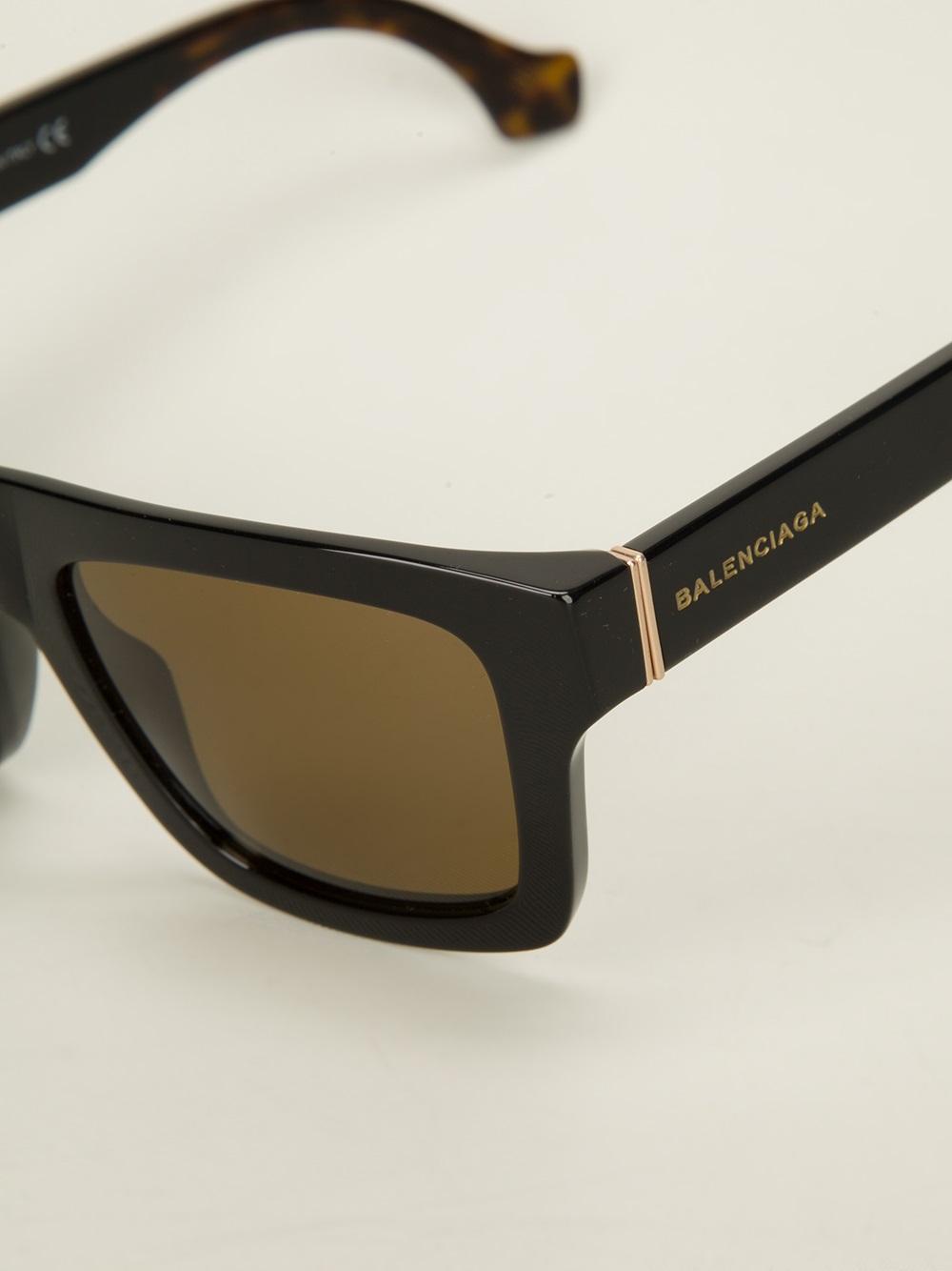 ac6297d0d4c Lyst - Balenciaga Square Frame Sunglasses in Black for Men