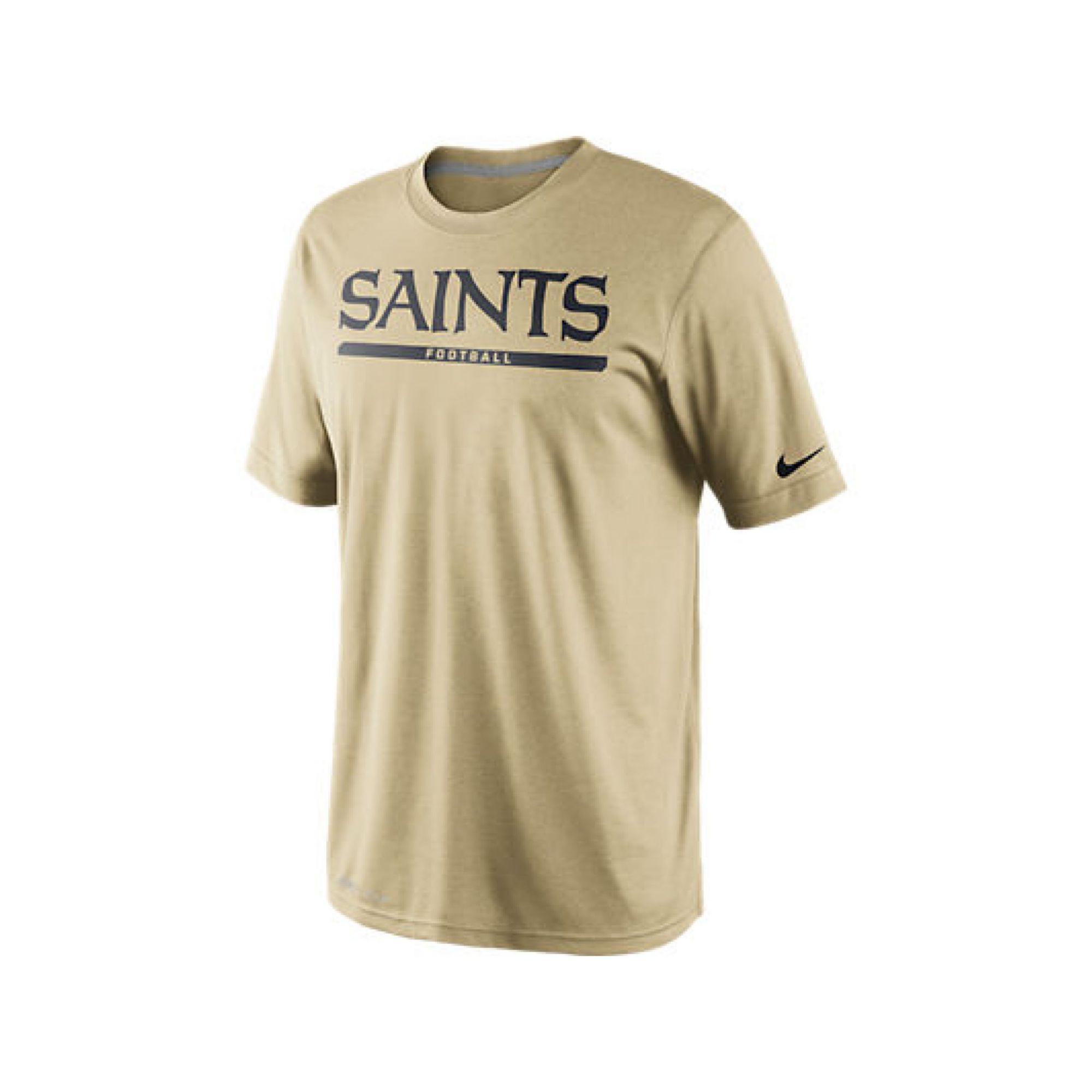 Nike mens shortsleeve new orleans saints drifit tshirt in for T shirt printing new orleans