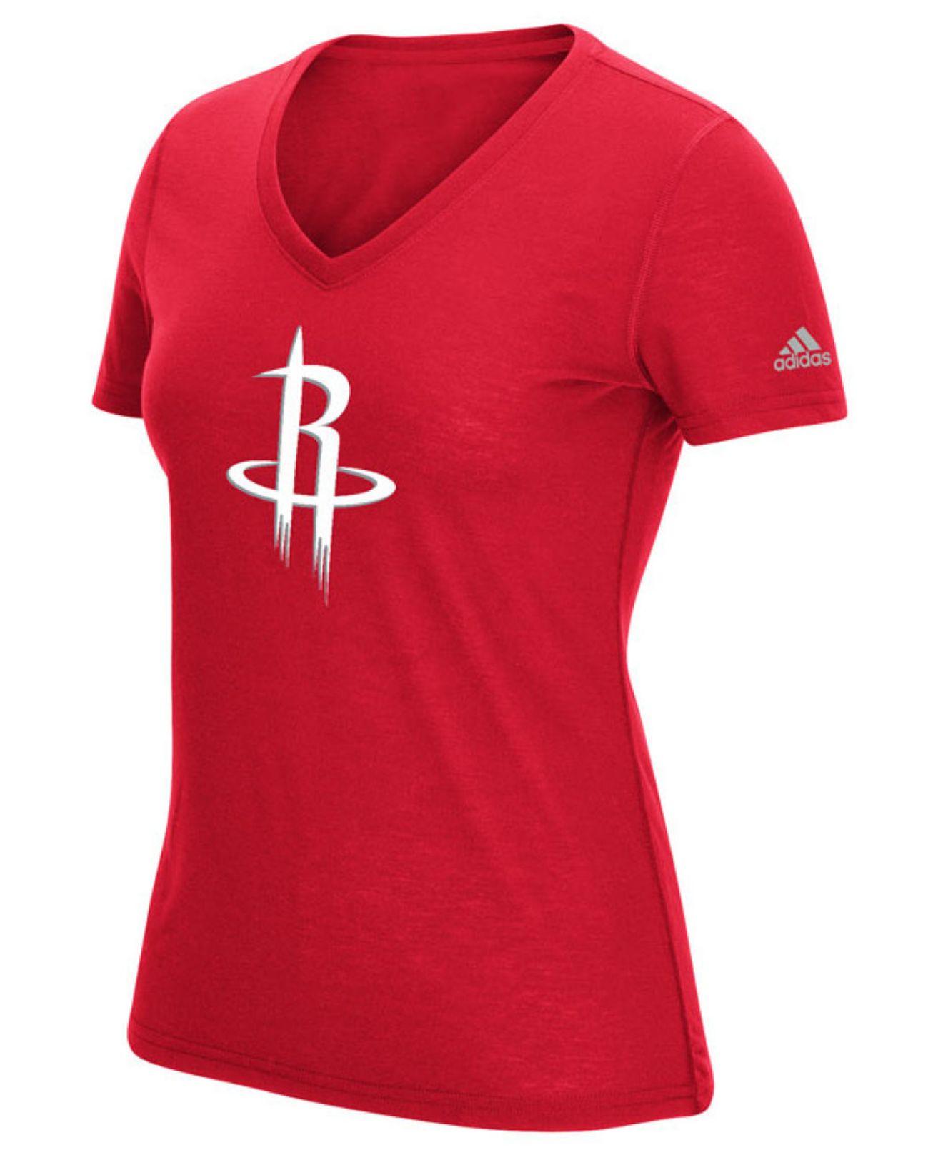 Houston Rockets Warm Up Shirt: Adidas Women's Houston Rockets Climalite T-shirt In Red