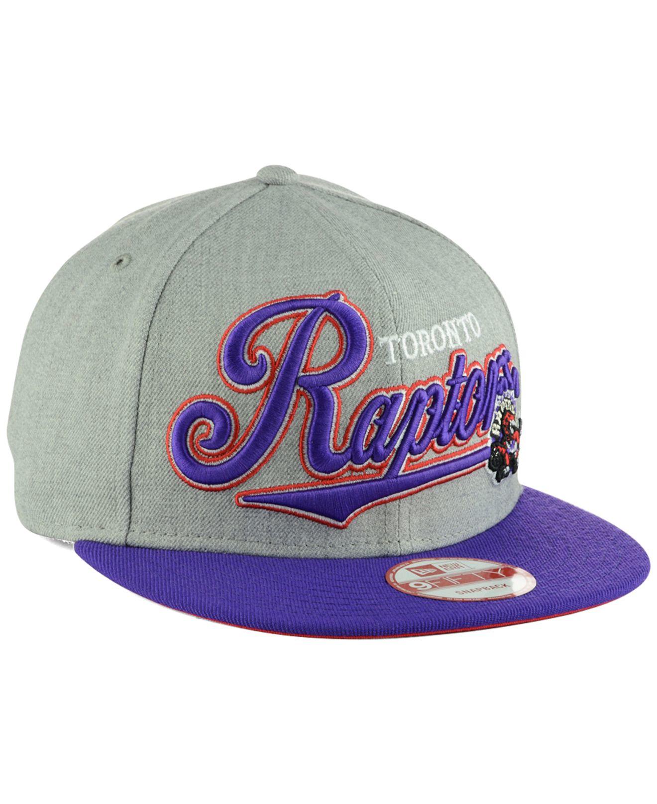 dc1c693fc43 Lyst - Ktz Toronto Raptors Big Heather 9fifty Snapback Cap in Purple ...