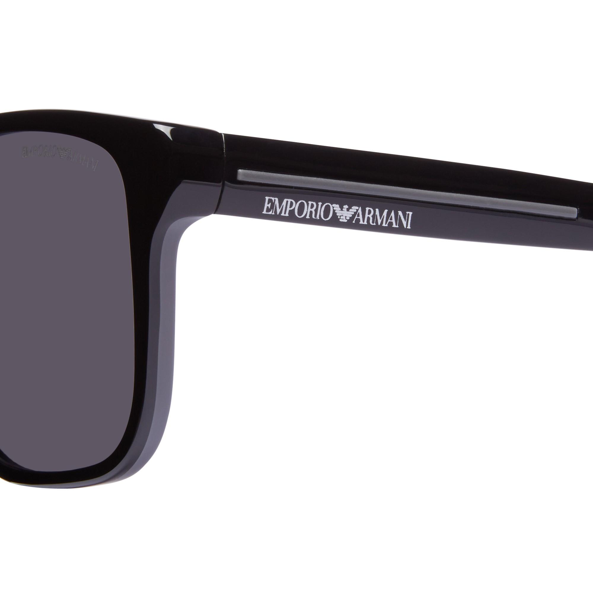 8ca4d867709 Emporio Armani Ea4014 Square Polarised Sunglasses in Black - Lyst