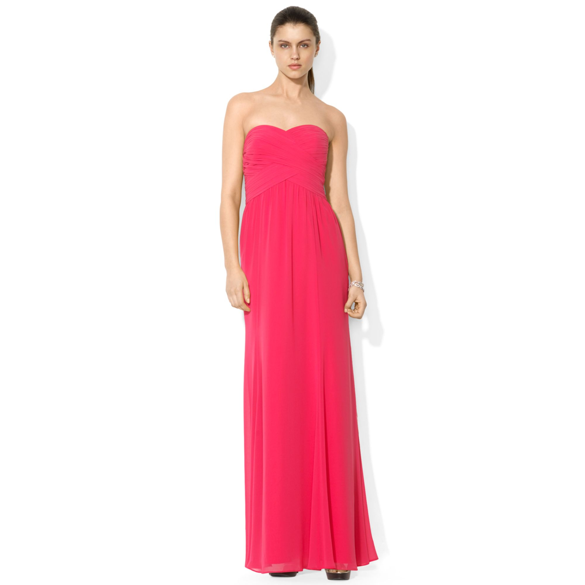 Lauren By Ralph Lauren Strapless Sweetheart Maxi Dress in ...