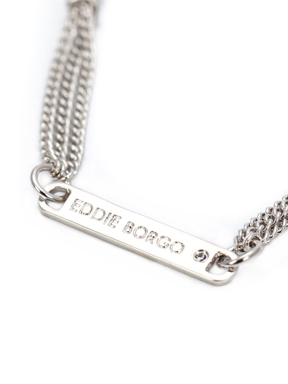 eddie borgo tassel pendant necklace in silver metallic
