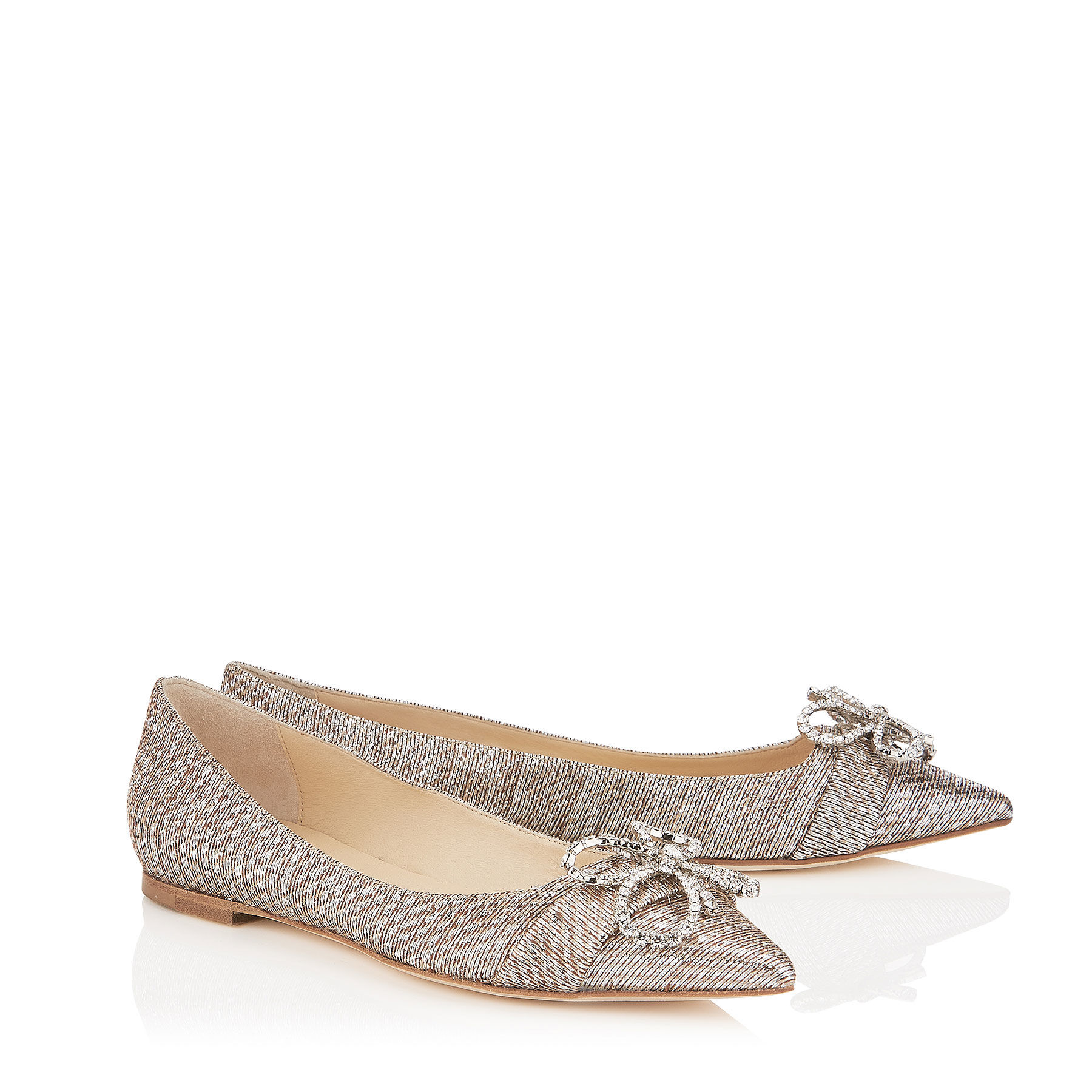 Jimmy Choo Metallic Woven Flats cheap sale 2014 unisex free shipping best sale cheap outlet store cheap sale wiki discount pay with paypal 44oSxkOU