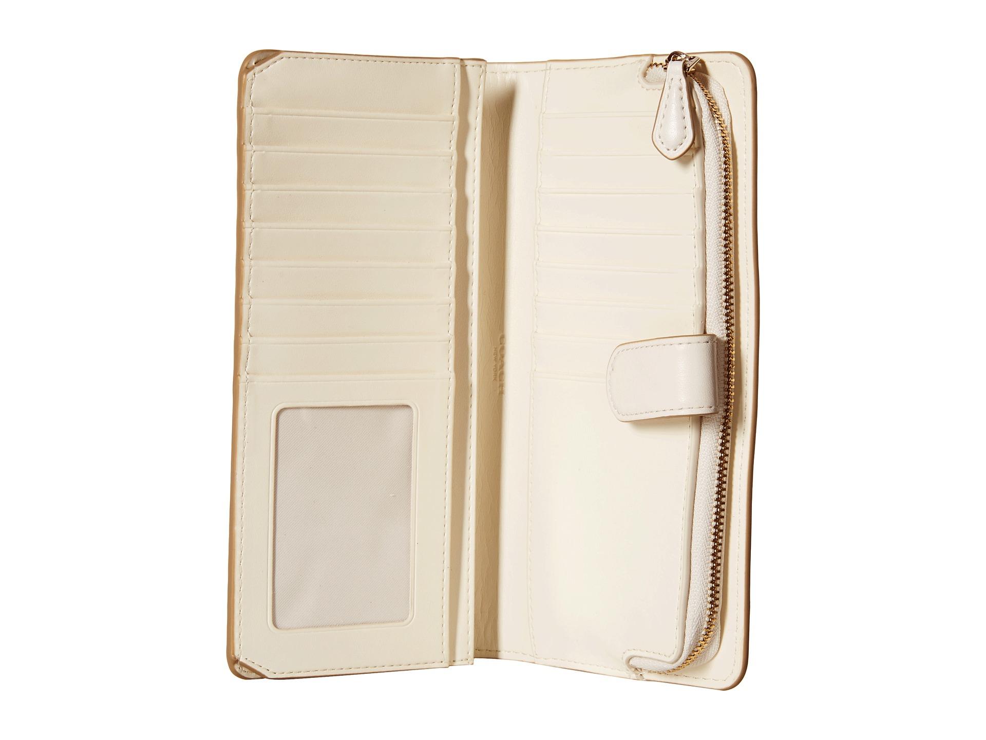 ba93ab5af3ab Lyst - COACH Skinny Wallet in White