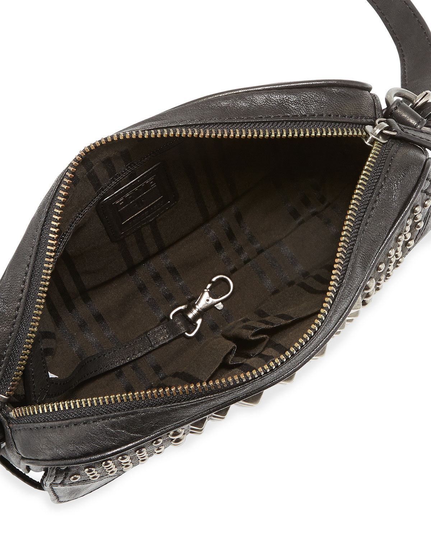 21c1eedf82ea Lyst - Frye Cameron Studded Leather Cross-Body Bag in Black