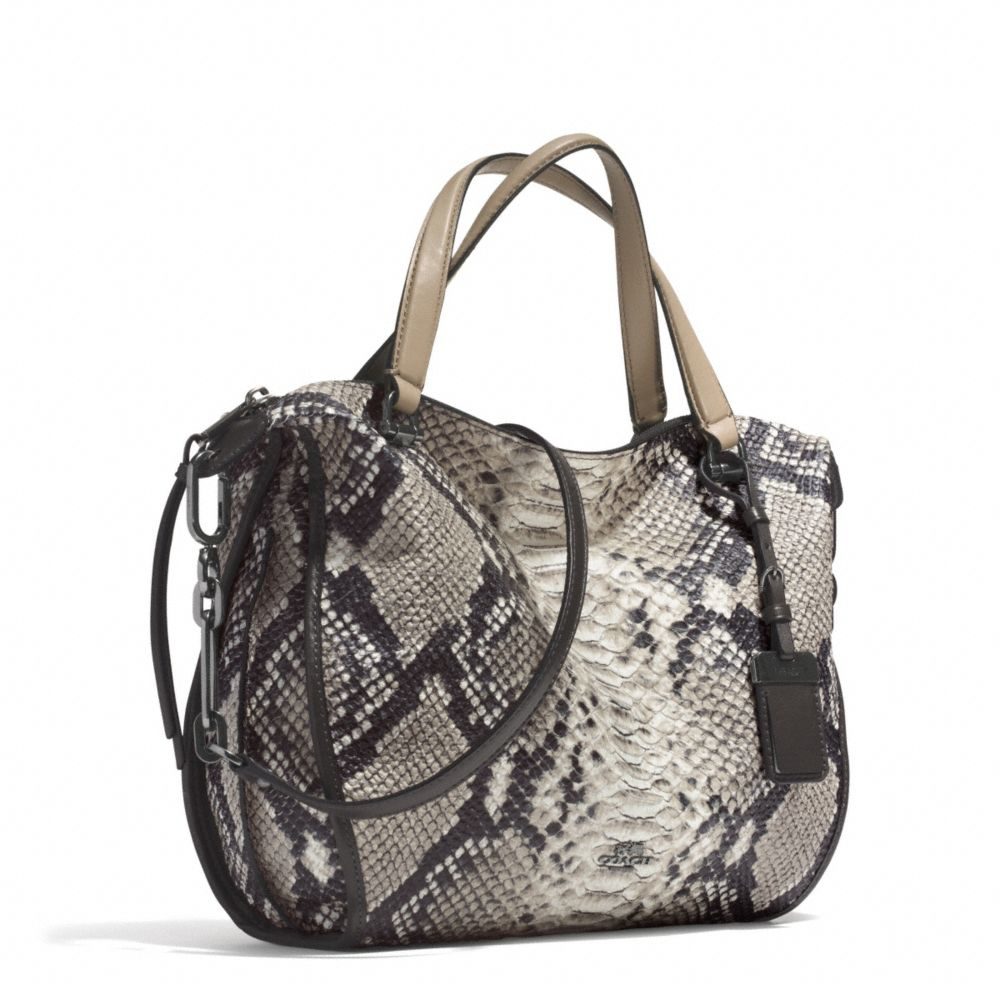 7165e9d10ec84 ... kylie crossbody in python embossed leather 2457f e2ddc sweden lyst  coach madison smythe satchel in diamond python leather in gray 66f10 f6c30  ...