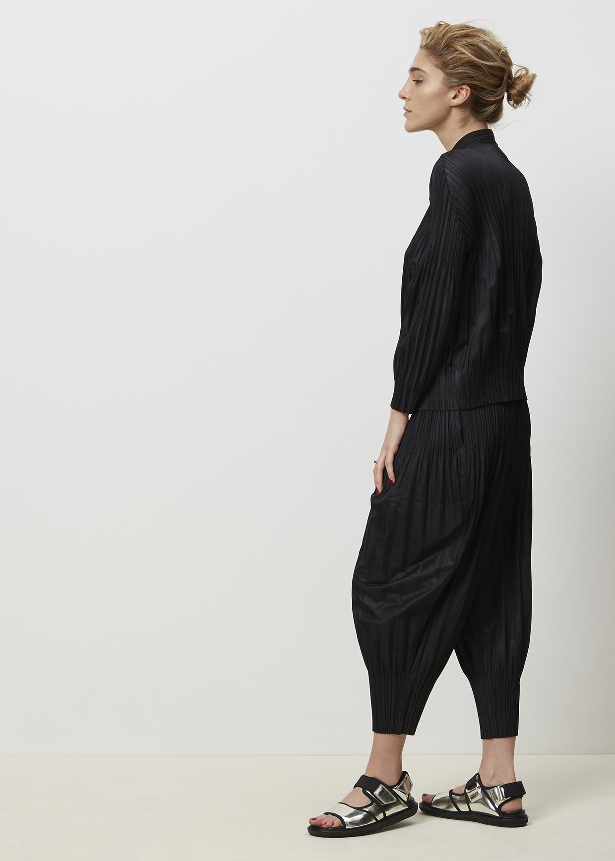 000b31bdf8bce Lyst - Pleats Please Issey Miyake Black Fluffy Pleats Pant in Black