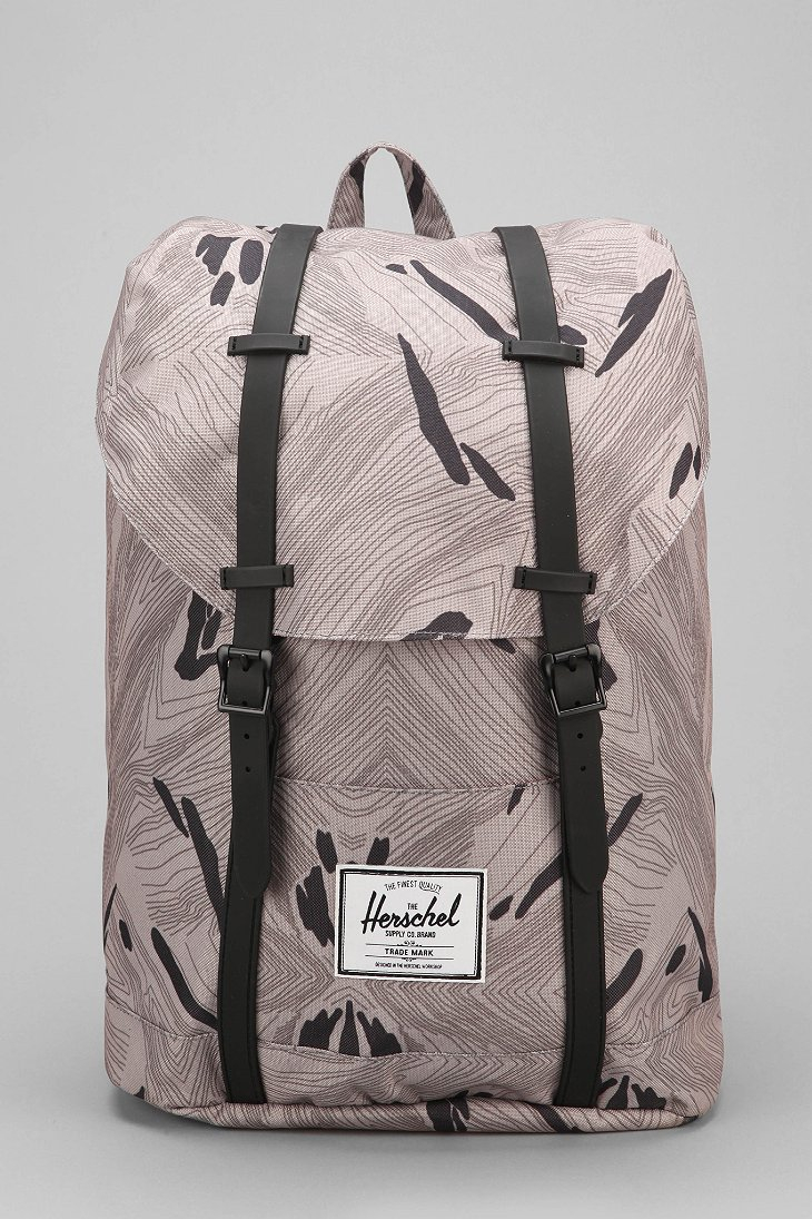 herschel supply co weather retreat backpack in gray for. Black Bedroom Furniture Sets. Home Design Ideas