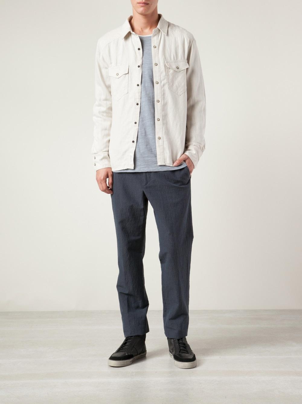 1f448192 Rag & Bone Western Shirt in Natural for Men - Lyst
